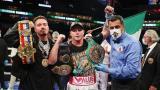 """El """"Canelo"""" Álvarez vence a Yildirim en tres asaltos y retiene sus títulos"""