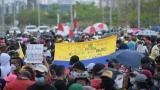 Concurrida manifestación en Barranquilla por el Día del Trabajo