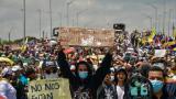 Organizaciones sindicales y sociales marcharon pacíficamente