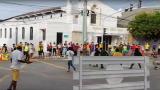 Manifestantes y uniformados jugaron partido de fútbol en Barranquilla
