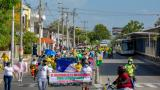Líderes comunales salieron a marchar este martes
