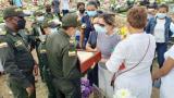 El clamor de justicia de la esposa del patrullero Gabriel Lengua Serpa