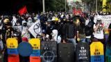 Protestas pacíficas en la jornada 22 del paro nacional
