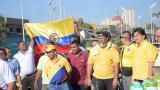 Así se desarrolla la marcha de taxistas en Barranquilla