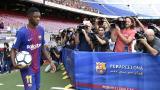 Ousmane Dembélé fue presentado como nuevo jugador de F.C. Barcelona