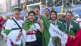 Mexicanos agradecen a Corea del Sur y festejan pase a octavos