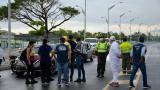 En video | Autoridades intervienen marcha a favor de Uribe en el Malecón