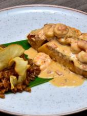 Róbalo al pacífico, una combinación de sabores caribeños