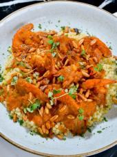 Marmaón con langostinos y 'seven spice', una delicia de raíces libanesas