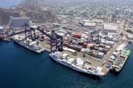 Instalaciones del Puerto de Santa Marta que reportó un aumento de 44% en las operaciones de exportación de café excelso colombiano en este año.