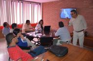 Funcionarios del Departamento Nacional de Planeación en el encuentro en Sincelejo.