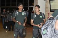 La plantilla del Chapecoense, conformada por 20 jugadores, arribó al hotel Sonesta, el pasado 18 de octubre, después de las 8:39 de la noche. Venían de hacer el reconocimiento de la cancha del estadio Metropolitano Roberto Meléndez.