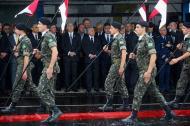 El Presidente de Brasil, Michel Temer, en el funeral colectivo de las víctimas de la tragedia aérea ocurrida en Medellín.