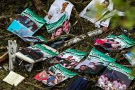 Imágenes de los carteles que llevaban los jugadores del Chapecoense.