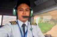 José Manuel Montenegro piloto de 19 años que manejaba la avioneta.