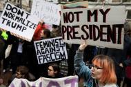 Protestas registradas en Nueva York.