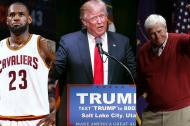 LeBron James, Donald Trump y Bobby Knight.
