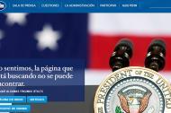 """""""Sorry, the page you're looking for can't be found (Disculpa, la página que estás buscando no puede encontrarse)"""", es el mensaje que se encuentran ahora los internautas que intentan acceder a la página www.whitehouse.gov/espanol."""