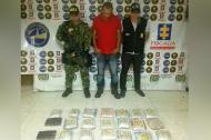El detenido (c) será procesado por narcotráfico.