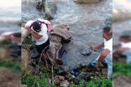 Momento en el que fue encontrado el cadáver de Rubén Patiño Tobón, en el Tajamar.