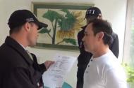 Momento de la captura de Andrés Cardona Laverde.