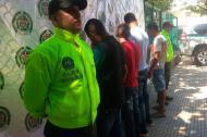 Miembros de 'Los Canarios' detenidos por la Policía.