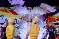 La reina Stephanie Mendoza desfilará con este diseño de fantasía de Alfredo Barraza titulado 'Perla del mar'.