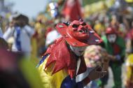 Diablos Arlequines de Sabanalarga aluden al disfraz con el que los españoles asustaban a los indígenas en la colonia.