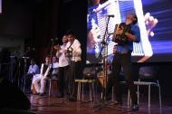 Jóvenes intérpretes durante el lanzamiento del Festival Vallenato este viernes en Barranquilla.