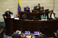 El senador Jorge Enrique Robledo en la plenaria de este martes.