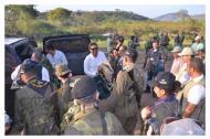 Llegada de 'Iván Márquez', el segundo de las Farc al PPT de Conejo para marchar con su tropa a Pondores, La Guajira.