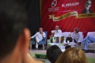 El conversatorio se realizó en la Biblioteca Rafael Carrillo Lúquez.