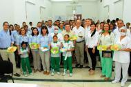 El secretario de Educación William Renan y el contralor Alfredo Moisés presidieron el lanzamiento del PAE.