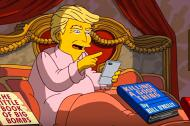 Donald Trump en la serie de Los Simpsons.
