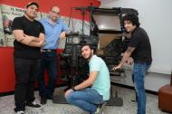 El equipo de Sandstorm en su visita a EL HERALDO.