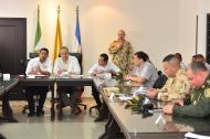 El vicepresidente Óscar Naranjo, en consejo de seguridad de este jueves en Valledupar.