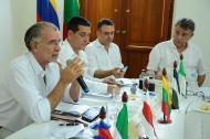 Gobernadores de la Costa en reciente reunión.