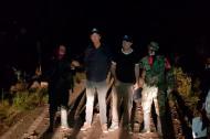 Periodistas liberados por la guerrila del ELN.