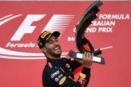 El piloto australiano Daniel Ricciardo, ganador del premio de Azerbaiyán.