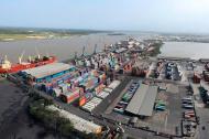 Panorámica aérea de la Sociedad Portuaria de Barranquilla.
