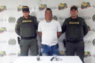Johnanderson Racedo Ramírez, cuando fue capturado el pasado febrero.