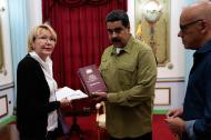El presidente Nicolás Maduro y la fiscal Luisa Ortega.