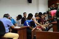 Audiencia contra los reclusos fugados.