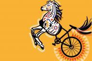 Los 'bici-ballos' o las 'caba-cletas' son producto de Tobón, de su imaginación y su talento.