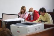 El teniente de la Policía, Juan Carlos Agámez Pájaro en la audiencia de imputación de cargos.