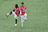 Yimmi Chará y Teo Gutiérrez serán las principales armas en el ataque del Junior para enfrentar hoy  a Cerro Porteño, del Paraguay.
