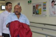 Alcides Pimienta Rosado, cuando llegaba a Bogotá, donde anoche era judicializado.