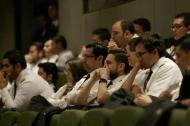 Un grupo de pilotos durante una reunión en la capital de la República.