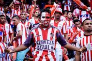 Hinchas del Junior en el estadio Metropolitano.