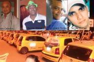 Fotografías de los cuatro conductores asesinados.